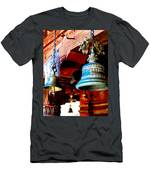 Tibetan Bells Men's T-Shirt (Athletic Fit)