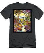 Tiffany Landscape Window Men's T-Shirt (Athletic Fit)