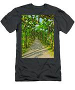 Tree Alley In Castle Park Men's T-Shirt (Athletic Fit)