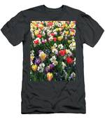Tulips - Field With Love 58 Men's T-Shirt (Athletic Fit)