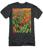 Tulips - Field With Love 62 Men's T-Shirt (Athletic Fit)