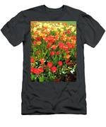 Tulips - Field With Love 68 Men's T-Shirt (Athletic Fit)