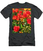 Tulips - Field With Love 71 Men's T-Shirt (Athletic Fit)