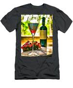 Wine And Grapes In The Window Men's T-Shirt (Athletic Fit)
