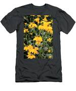 Yellow Echinacea Men's T-Shirt (Athletic Fit)