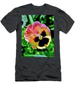 Pink And Yellow Pansy Men's T-Shirt (Athletic Fit)