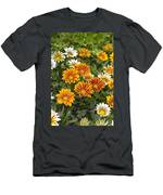 Gazania Gazania Rigens Flowers Men's T-Shirt (Athletic Fit)
