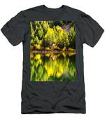 Autumn Reflection In Georgetown Lake Colorado Men's T-Shirt (Athletic Fit)