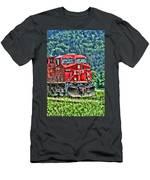 Coal Train Hdr Men's T-Shirt (Athletic Fit)