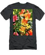 Colorful Snapdragons Men's T-Shirt (Athletic Fit)
