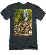 Crater Lake Waterfall Men's T-Shirt (Athletic Fit)