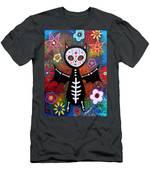 Day Of The Dead Bat Men's T-Shirt (Athletic Fit)
