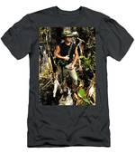 Man In The Wilderness Men's T-Shirt (Athletic Fit)