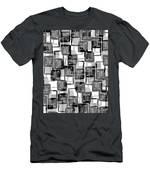 Monochrome Squares Men's T-Shirt (Athletic Fit)