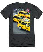 Nyc Yellow Cabs Men's T-Shirt (Athletic Fit)