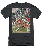 Parking Bicycles In Mako Men's T-Shirt (Athletic Fit)
