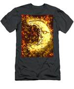 sleepy Moon Men's T-Shirt (Athletic Fit)