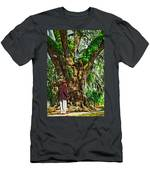 Strolling With Giants Painted Men's T-Shirt (Athletic Fit)