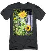Sunflower Fence Men's T-Shirt (Athletic Fit)
