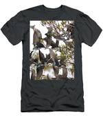 Tree Swallow Frenzy Men's T-Shirt (Athletic Fit)