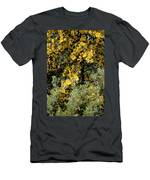 Yellow Flowers On Tree Men's T-Shirt (Athletic Fit)