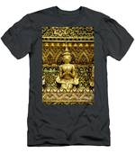 Detail From A Buddhist Temple In Bangkok Thailand Men's T-Shirt (Athletic Fit)
