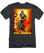 1942 Civil Defense Poster By Charles Coiner Men's T-Shirt (Athletic Fit)