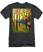 Abstract Forest Men's T-Shirt (Athletic Fit)