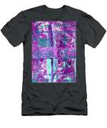 Abstract In Purple And Teal Men's T-Shirt (Athletic Fit)