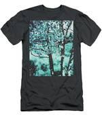 Aqua Aspens Men's T-Shirt (Athletic Fit)