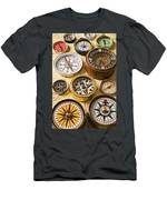 Assorted Compasses Men's T-Shirt (Athletic Fit)
