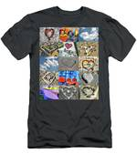 Awesome Hearts - Collage Men's T-Shirt (Athletic Fit)