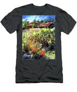Beyond The Red Flowers Men's T-Shirt (Athletic Fit)