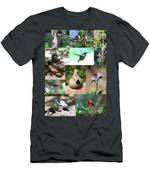Birdsong Nature Center Collage Men's T-Shirt (Athletic Fit)