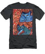 Blue Cats Men's T-Shirt (Athletic Fit)