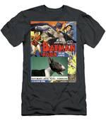 Bull Terrier Art Canvas Print - Batman Movie Poster Men's T-Shirt (Athletic Fit)