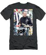 Busking Drummer Men's T-Shirt (Athletic Fit)