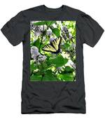 Butterfly In The Lilac No. 1 Men's T-Shirt (Athletic Fit)