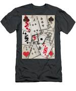 Cards Abstract Men's T-Shirt (Athletic Fit)