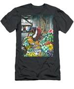 Caribbean Market Day Men's T-Shirt (Athletic Fit)
