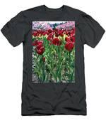 Claret Tulips  Men's T-Shirt (Athletic Fit)