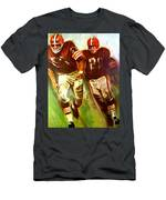 Cleveland Browns 1965 Cb Helmet Poster Men's T-Shirt (Athletic Fit)