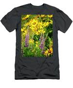 Columbia Gorge Wildflowers Men's T-Shirt (Athletic Fit)