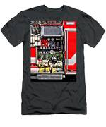 Dials And Hoses On Fire Truck Men's T-Shirt (Athletic Fit)
