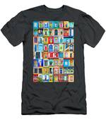 Doors And Windows Of The World - Vertical Men's T-Shirt (Athletic Fit)