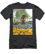 Easter Bunny Topiary Men's T-Shirt (Athletic Fit)