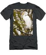 Egret Men's T-Shirt (Athletic Fit)