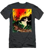 Escape From The Burning House Men's T-Shirt (Athletic Fit)