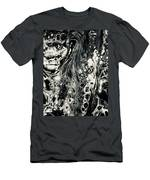 Evil In Black And White Men's T-Shirt (Athletic Fit)