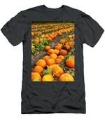 Field Of Pumpkins Card Men's T-Shirt (Athletic Fit)